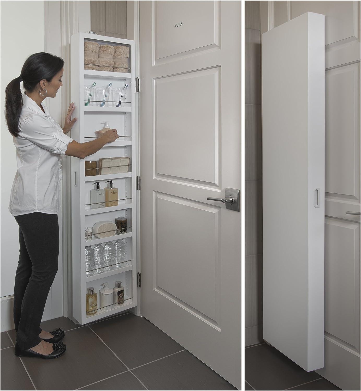 Medicine Cabinet Kitchen, Behind The Door Storage Cabinet With Mirror