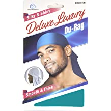 Set of 4 Black White Brown Navy Smooth /& Thick Shiny /& Silky Deluxe Durag