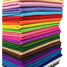 cuts Each, Cotton Quilting Fabric Assortments 60 Rainbow Color Craft Fat Fabric Bundle Squares Patchwork DIY Sewing Scrapbooking Quilting Dot Pattern,8 x 8 20cm x 20cm Bright Solids