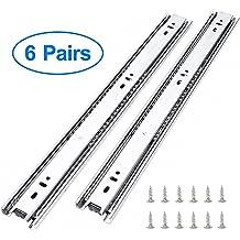 Ball Bearing Two Way Slide Track Rail 0.7 inch Wide 1 Pair Yoohey Metal 13.5 inch Drawer Slides