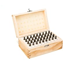 "Metal Wood Leather 36pcs 1//8/"" 3mm Letter /&Number Stamp Punch Set Hardened Steel"