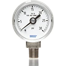 Wika 52216870 Polycarbonate Low Pressure Differential Pressure Gauge with Panel Mount 2 x 1//8 Hose Barb Back Connection 3 WC Range 4-1//2 Diameter 2 x 1//8 Hose Barb WIKA Instrument Corporation 3 WC Range 4-1//2 Diameter +//-3/% Accuracy Type A2G-10
