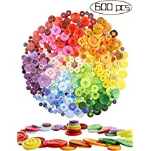 1220 PCS Mixed Colors Size Assorted Bulk Buttons for Crafts Sewing DIY Childrens Manual Button Painting,DIY Handmade Ornament