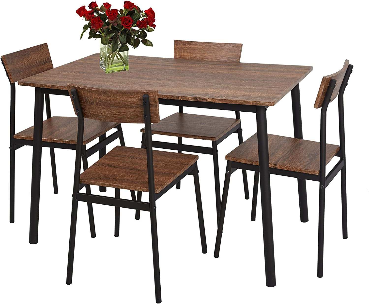 Rustic Wooden Kitchen Table And Chairs, Dining Room Sets 4 Chairs