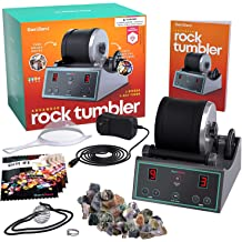 High Speed Benchtop Buffer Polisher Jewelry Rock polishing Buffer Machine Bench Lathe Polisher 110V Hobby Rock Tumbler Kit
