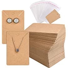 Marble Stripe Coopay 200 Pieces Earring Display Card Earring Card Holder Blank Kraft Paper Tags for DIY Ear Studs and Earrings,3.5 x 2 Inches