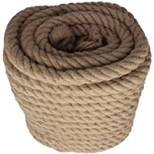UV Crafts and Chemical Resistant Marine UnManila Tan Twisted 3 Strand Polypropylene Cord Moisture DIY Projects 1 inch 25 ft Indoor//Outdoor SGT KNOTS ProManila Rope Commercial