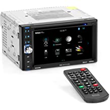 """Dual Axxera Double 2 DIN FM CD Bluetooth USB iPhone Car Stereo /& 6.5/"""" Speakers"""