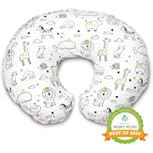 Boppy Original Nursing Pillow /& Positioner Gray Taupe Leaves Cotton Blend Fabric with Allover Fashion