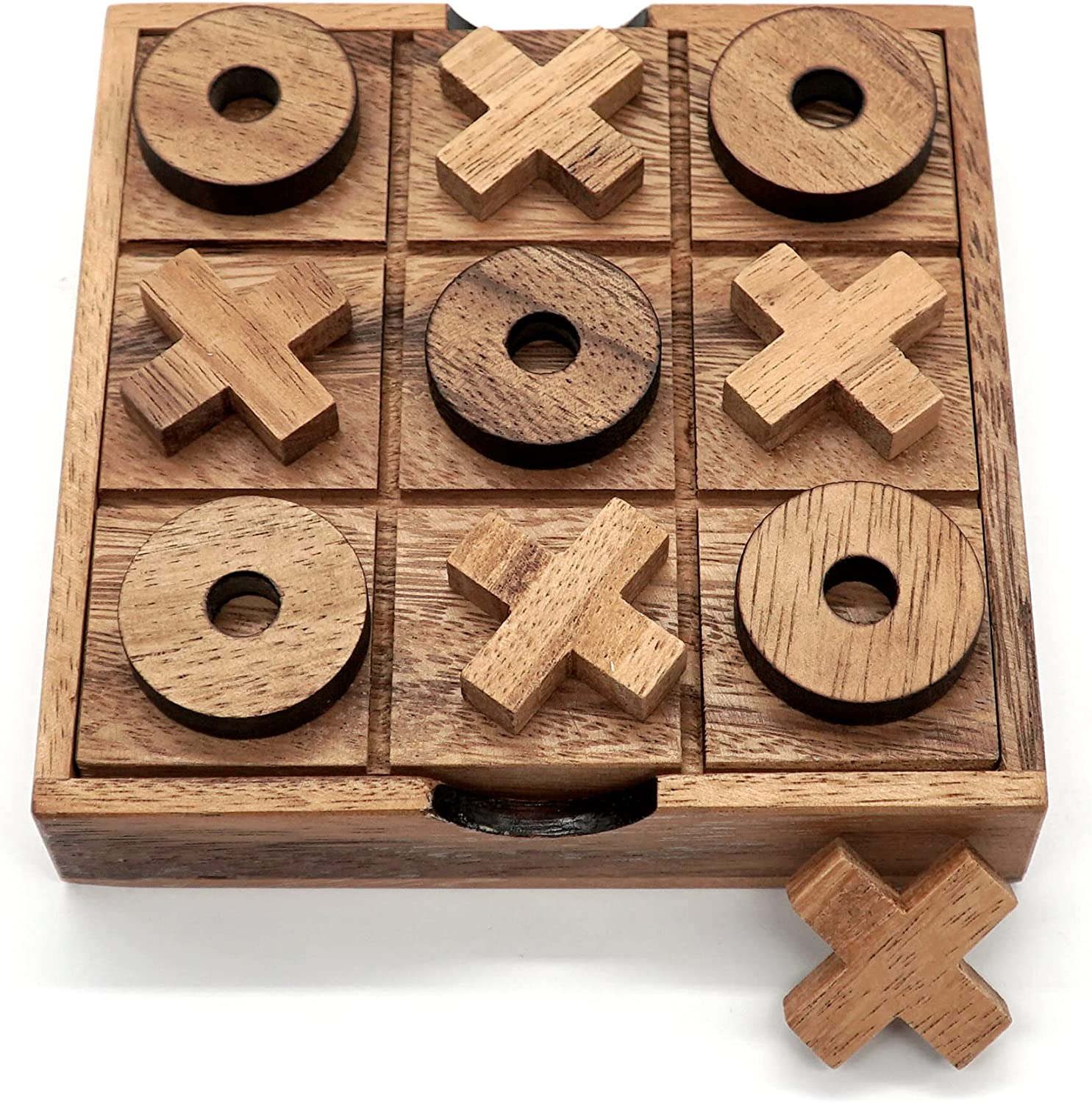 Buy Tic Tac Toe Wooden Board Game Table Toy Player Room Decor Tables Family Xoxo Decorative Pieces Adult Rustic Kids Play Travel Backyard Discovery Night Level Drinking Romantic Decorations Standard Online In