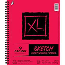 Canson XL Series Oil and Acrylic Paper Pad Bleed Proof Canvas Like Texture,...