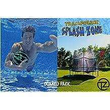 Trampoline Spray Water Park Fun Summer Water Game Toys Trampoline 39 ft Black