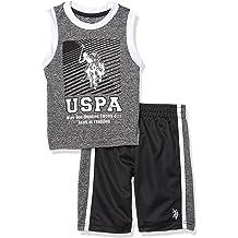 Polo Assn Boys/' T-Shirt U.S Tank and Mesh Short Set