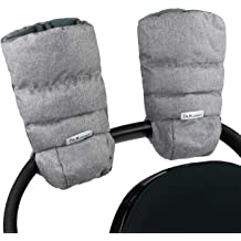 Pushchair Gloves Anti-Freeze Carriage Hand Cover for Parents and Caregivers Warm Stroller Gloves WIWAPLEX Waterproof Stroller Hand Muff Gray