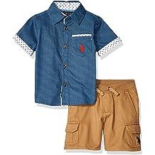 Boys 2 Piece Sleeve Tee and Mesh Short Set Polo Assn U.S