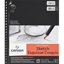 Top Wire Bound 111 Pound Canson Artist Series 1557 C A Grain Drawing Paper 20 Sheets 9 x 12 Inch Two-Sided: Fine and Medium Textures
