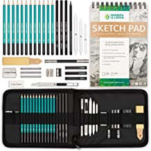 Charcoals Erasers Kit Bag for Shading Pastels Drawing Magicfly 33 Pcs Professional Sketching Pencils Charcoal Pencil Set Complete Graphite Drawing Pencils Artist Kit with Sketch Book Tools