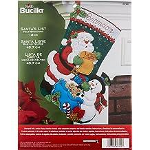 Bucilla 86865 Santas Forest Family Kit Stocking multi
