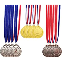 Express Medals 1-10 PK Gold Basketball 1st Place Medal Award Trophy with Neck Ribbon