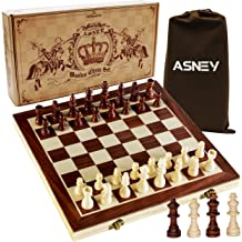 3D Chessboard with 3 Chess Pieces AMBRIZZOLA Scala Wooden Chess Gift Set