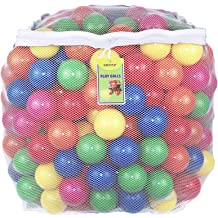 Phthalate Free BPA Free Crush Proof Plastic Ball Fun and Educational Youngever 60 Pack Pit Balls Bright Colors Ball Pit